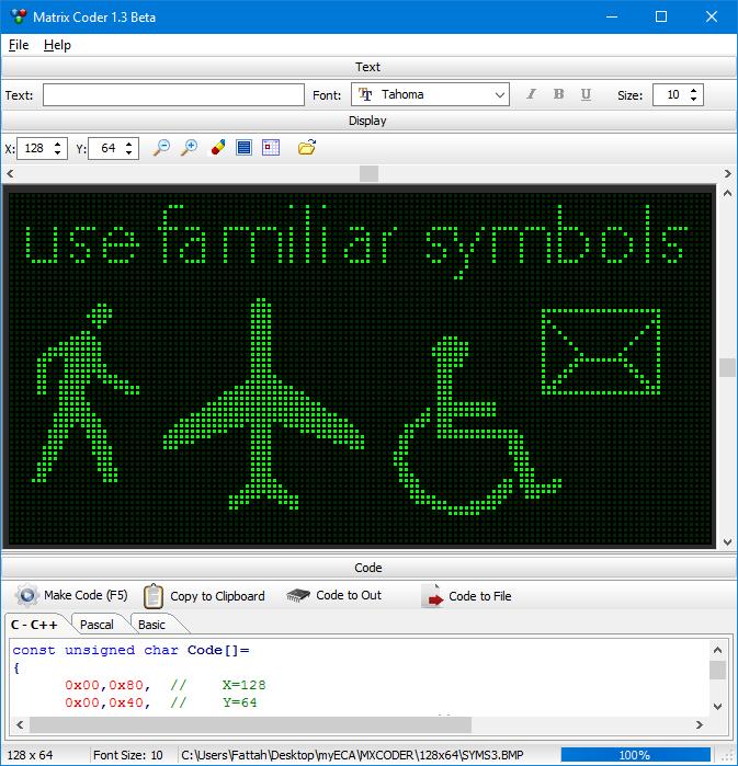 CCS :: View topic - LED Matrix Coder - Text to Array by Fattah-Tafreshi
